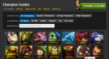 Champion Guides   League of Legends Guides on LolKing